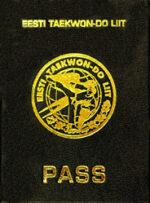 Паспорт Эстонского Союза Таэквондо