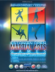 1.-2.märtsil toimusid Kalevi Spordihallis 1. Eesti Lahtised Võitluskunstide Mängud.  5 riigi, pea pooltuhat sportlast, kes kahe päeva jooksul selgitasid paremad nii Kudos, Sambos, Sport Chanbaras kui Taekwondos.