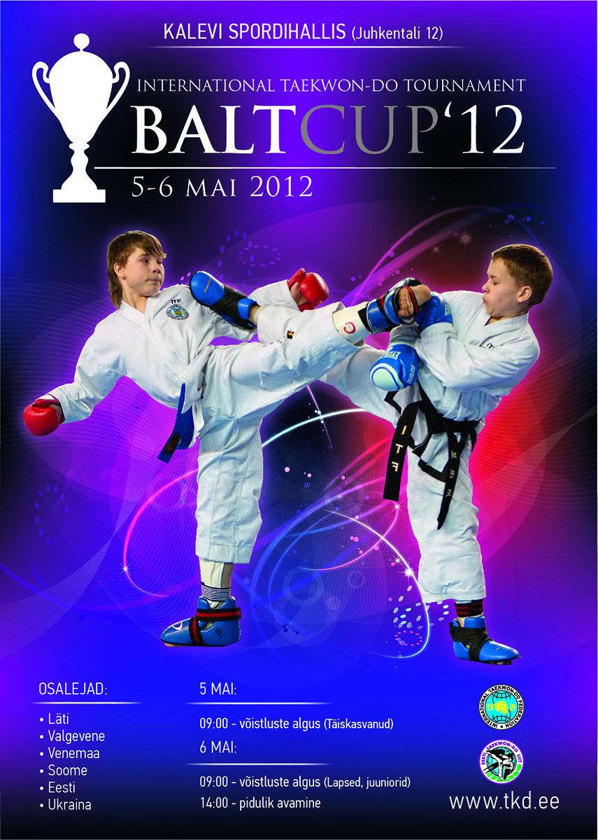 """5.–6. mail 2012 toimus Lasnamäe Kergejõustikuhallis rahvusvaheline turniir  """"BaltCup"""". Osales umbes 300 sportlast Valgevenest, Lätist, Soomest, Ukrainast, Venemaalt ja Eestist. Antud turniir kujutas endast ühte eesti koondise ettevalmistusetappi Taekwondo Maailma Meistrivõistlustel osalemisel, mis toimus augustis Tallinnas."""