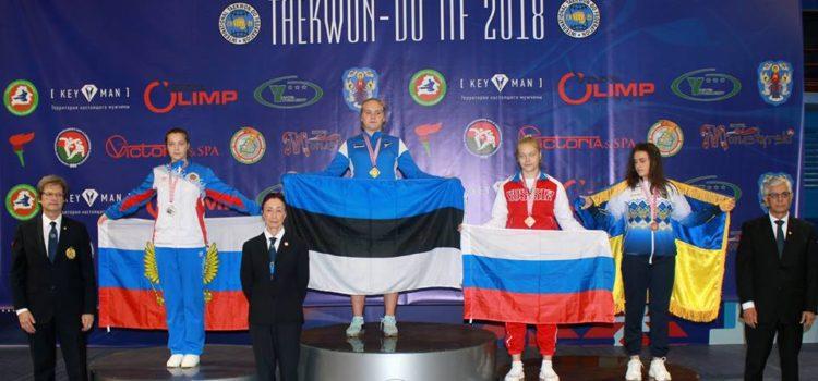 Эстонская спортсменка привезла золото с ЧМ по таэквон-до среди юниоров