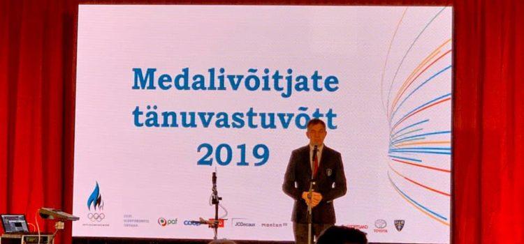 18. detsembril tunnustati Hilton Tallinn Park hotellis parimaid sportlasi