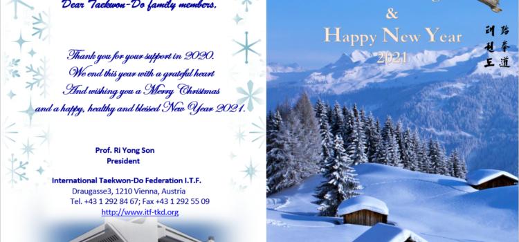 Желаем вам счастливого Рождества в кругу близких людей и волшебного Нового года!